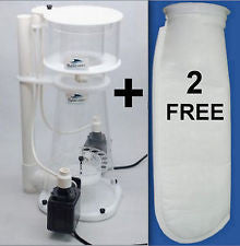 Bubble Magus Nac77 Protein Skimmer. 2 Free Filter Socks