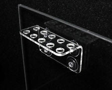 Frag Rack Clear Acrylic- Holds 10 Coral Frag Plugs