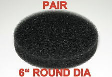"Pair 6"" Round Foam Sponge For Aquarium Canister Filter And Substrate Reactor"