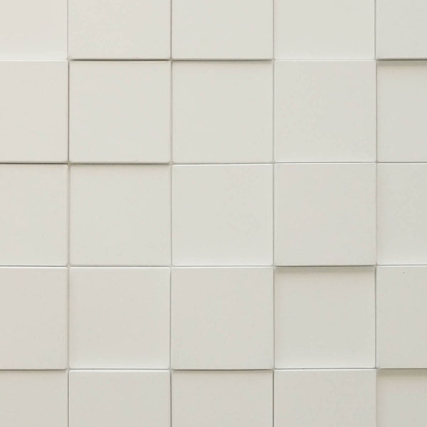 Harmony Cubes Matte White - 3D Wall Panels 4-Pack (16sq. ft./ case)