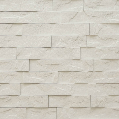 Ledge White Stone - 3D Wall Panels 4-Pack (16sq. ft./ case)