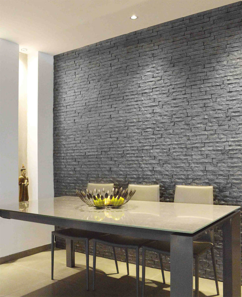 ledge white stone 3d wall panels 4 pack 16sq ft case yeswalls. Black Bedroom Furniture Sets. Home Design Ideas