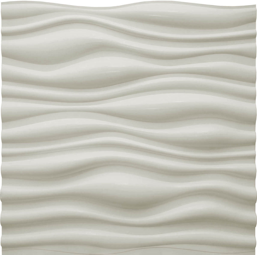 Dunes Matte White - 3D Wall Panels 4-Pack (16sq. ft./ case)