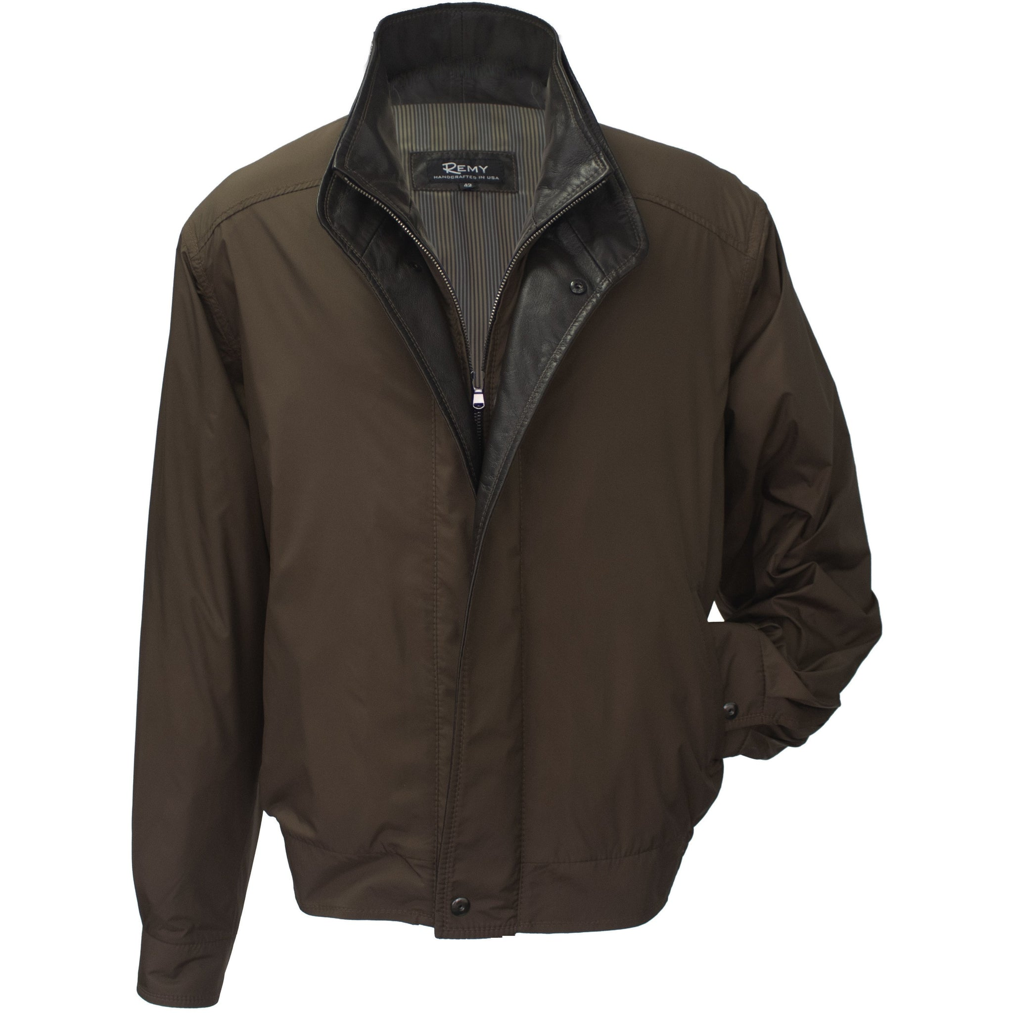 1795 - Mens Microfiber Double Collar Jacket