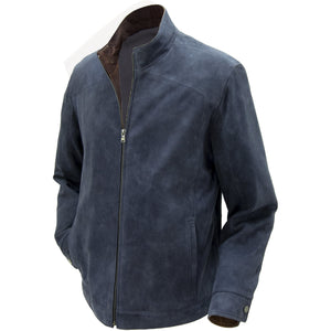 5059 - Mens Classic Style Leather Jacket in Lake/Rustic