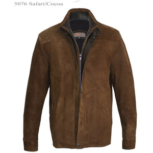 5076 - Mens Outdoor Leather Jacket