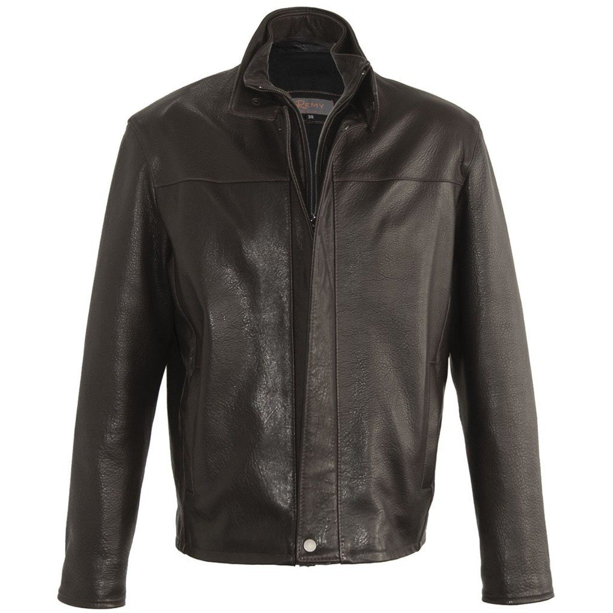 5096 -  Mens Leather Jacket in Rum