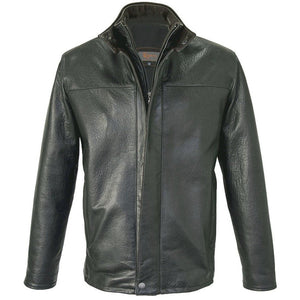 5096 -  Mens Leather Jacket in Smoke/Rustic