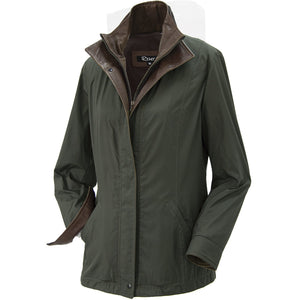 7059 - Ladies Double Collar Microfiber Coat in Tundra/Rustic