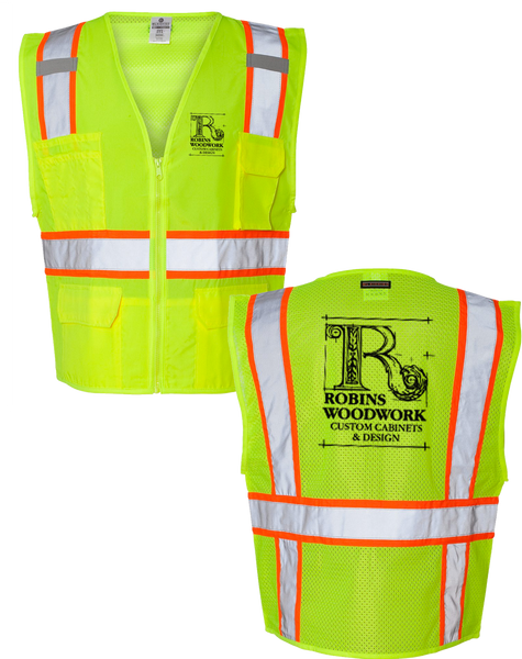 Robin Woodworks Safety Vest - Yellow