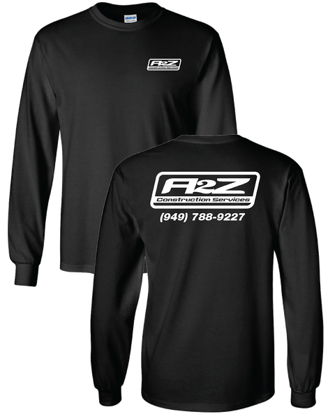 A2Z - Black Longsleeve (with White print)