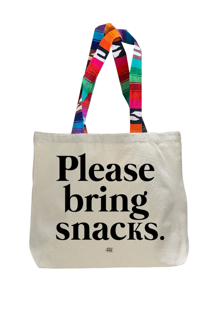 Stay Over - Tote Bag with custom stapes