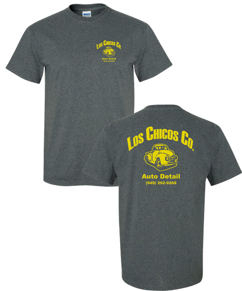 Los Chicos - Navy Heather Tee *with yellow