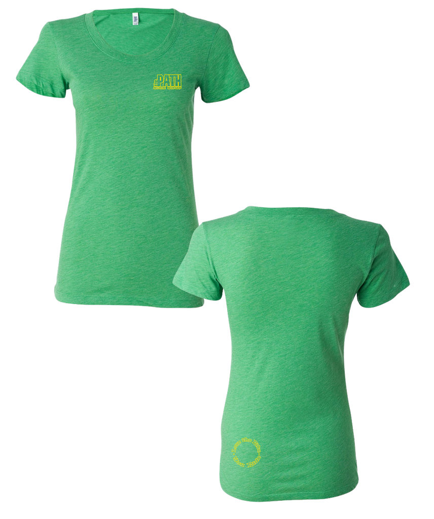 The Path - Logo Girls Tee (Green Triblend)