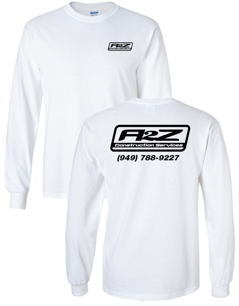 A2Z - White Longsleeve (with Black print)