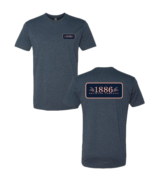 1886 - Mens Tee (Navy Heather)