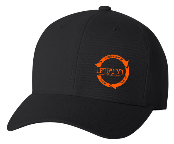 1Fifty1 *Embroidered Logo Flexfit (Black)