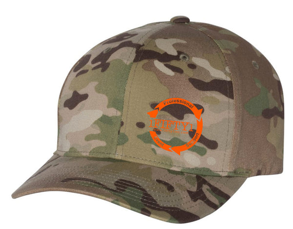 1Fifty1 *Embroidered Logo Flexfit (Camo)