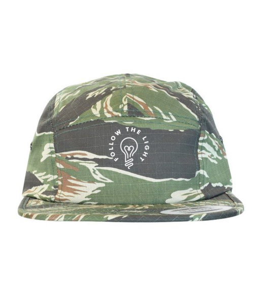 Follow The Light - 5 Panel Hat (Camo)