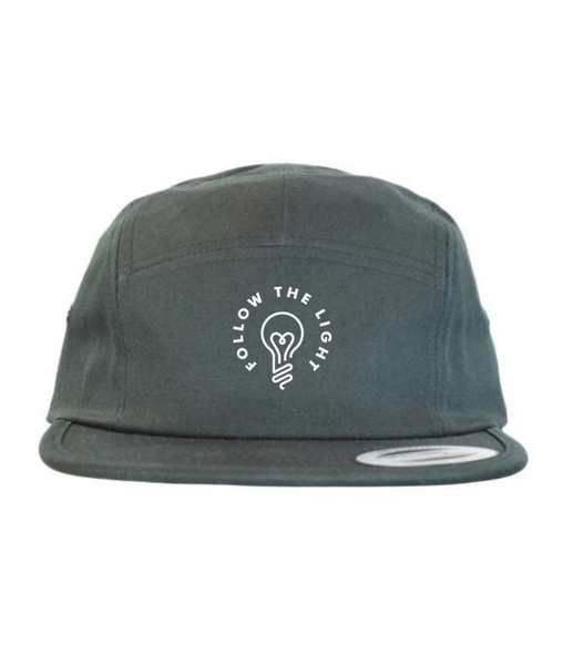 Follow The Light - 5 Panel Hat (Black)