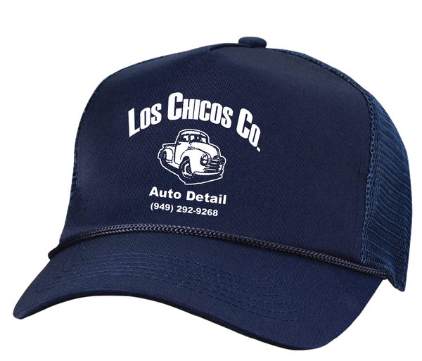 Los Chicos  -  5 Panel Mesh Trucker Navy Hat
