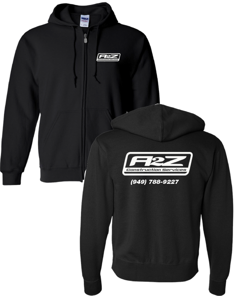 A2Z - Black Zippered Sweatshirt