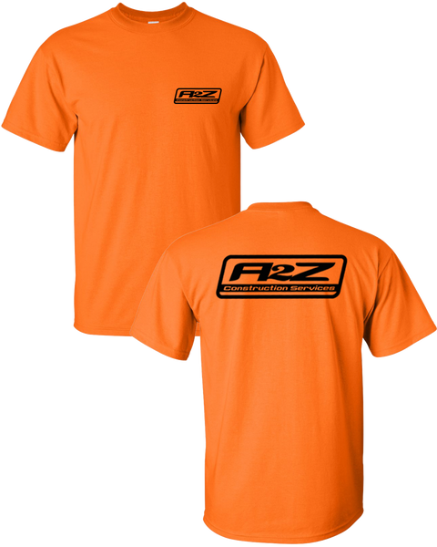 A2Z - Saftey Orange Tee (with Neon Orange)