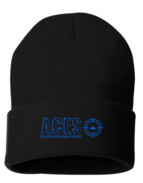 "Aces Cargo - 12"" Knit Beanie (Black)"