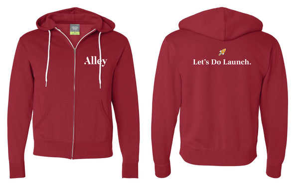 Alley Interactive - Let's Do Launch Zip-Hoodie (Red)