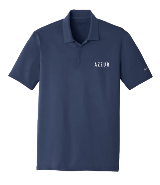 AZZUR - Embroidered Mens Polo (Navy)