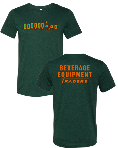 Beverage Equipment Traders - Logo T-Shirt (Emerald | Orange Back)