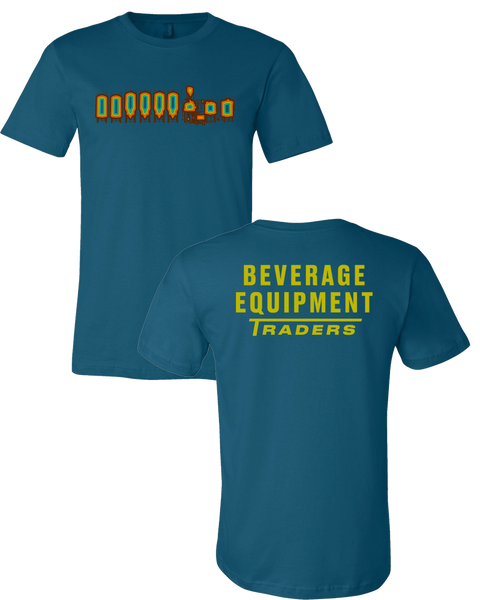Beverage Equipment Traders - Logo T-Shirt (Deep Teal | Yellow Back Print)