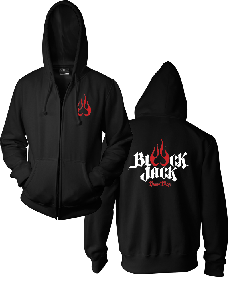 Black Jack Speed Shop - Zip Hoodie
