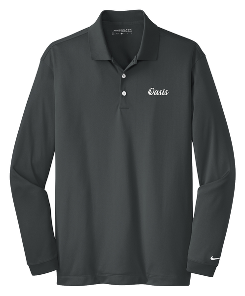 Oasis - Mens - Nike Long Sleeve Dri-FIT Stretch Tech Polo