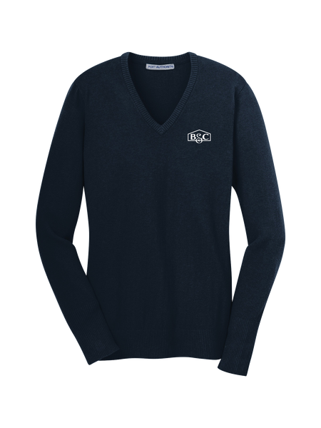 B&C - Womens -Port Authority Ladies V-Neck Sweater