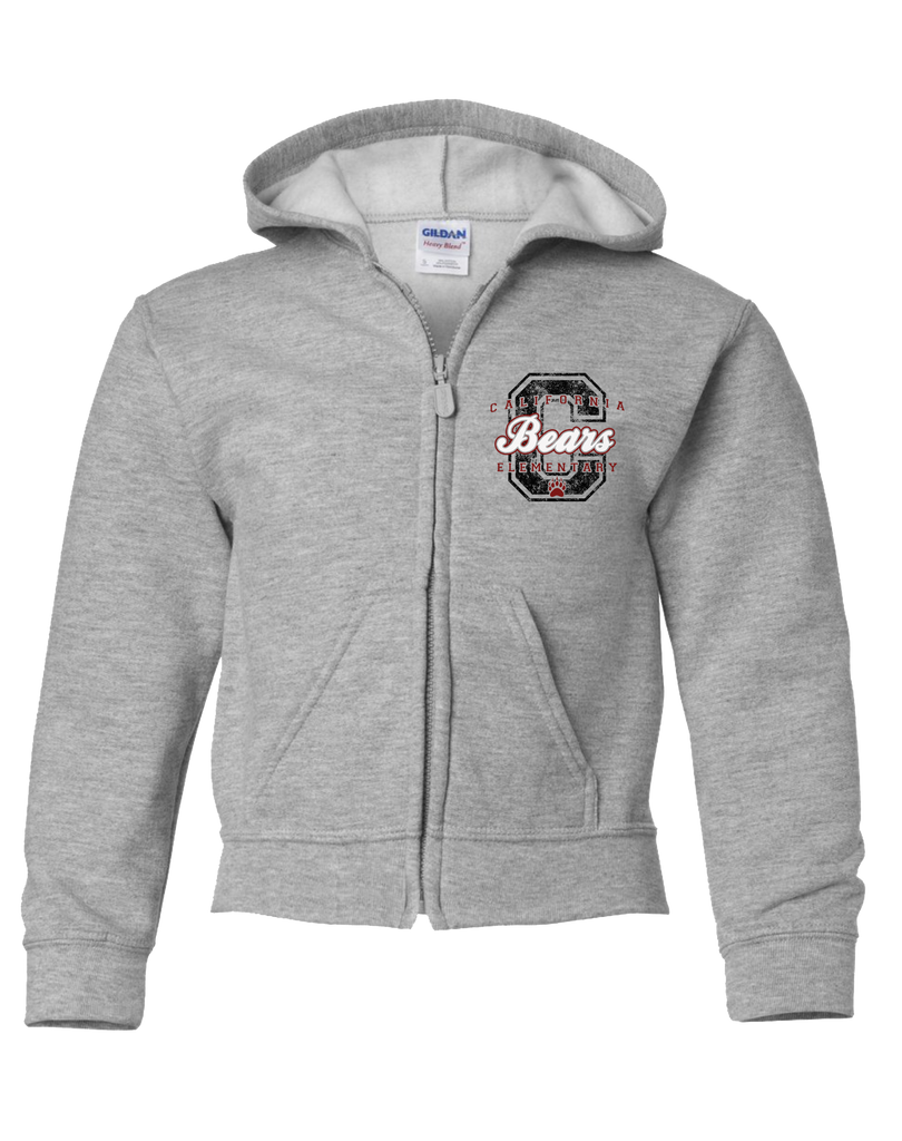 California Elementary - Logo Youth Zip-Hoodie (Sport Grey)