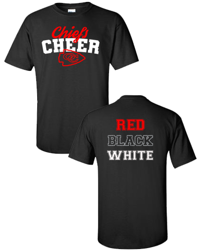 OC Cheer - Black Shirt Adult