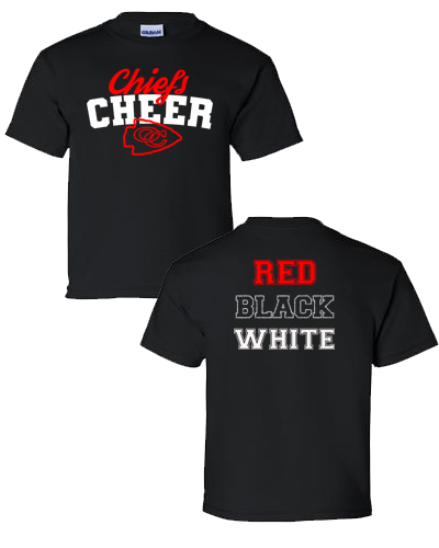 OC Cheer - Black Shirt Adult (Youth)
