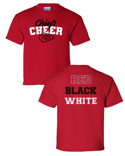OC Cheer - Red Shirt Adult (Youth)