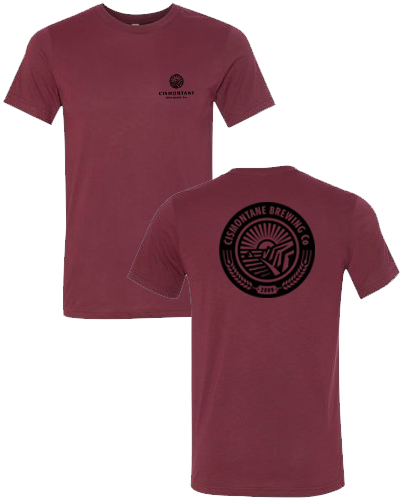 Cismontane - Left Chest, Logo Tee (Heather Cardinal)