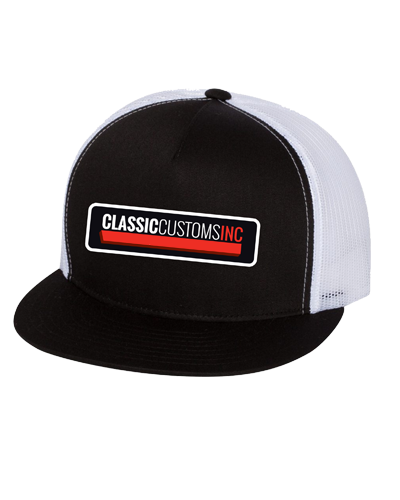 Classic Customs - Trucker Hat (Black/White)