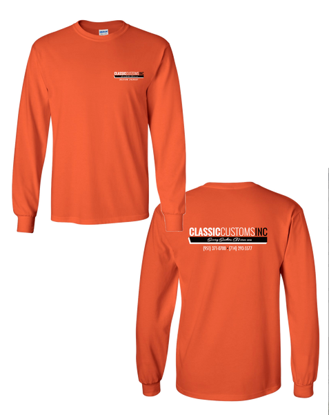 Classic Custom - Safety Orange Longsleeve