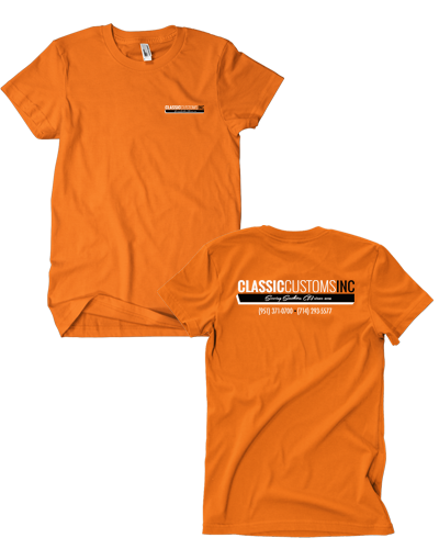 Classic Custom - Safety Orange Tee