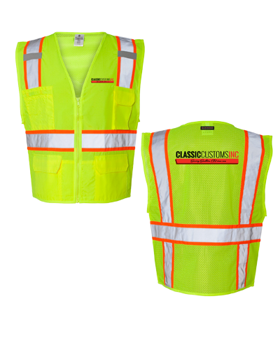 Classic Customs Safety Vest - Yellow (Below 60 Units)