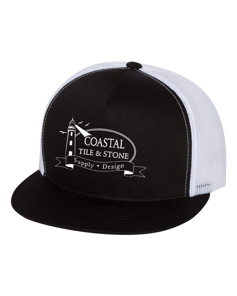 Coastal Tile & Stone - Trucker Hat (Black/White)