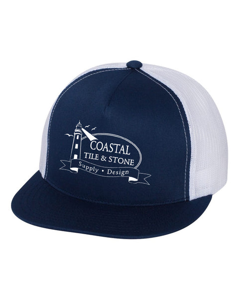 Coastal Tile & Stone - Trucker Hat (Navy/White)