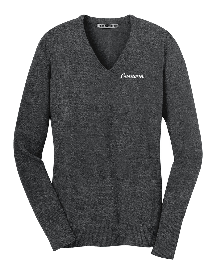 Caravan  - Port Authority® Ladies V-Neck Sweater
