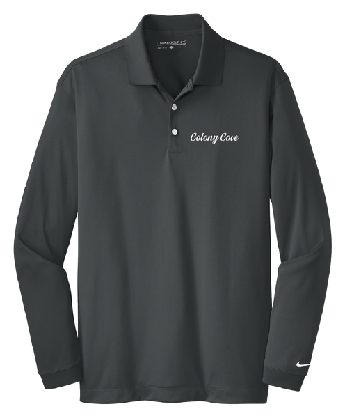 Colony Cove - Mens - Nike Long Sleeve Dri-FIT Stretch Tech Polo
