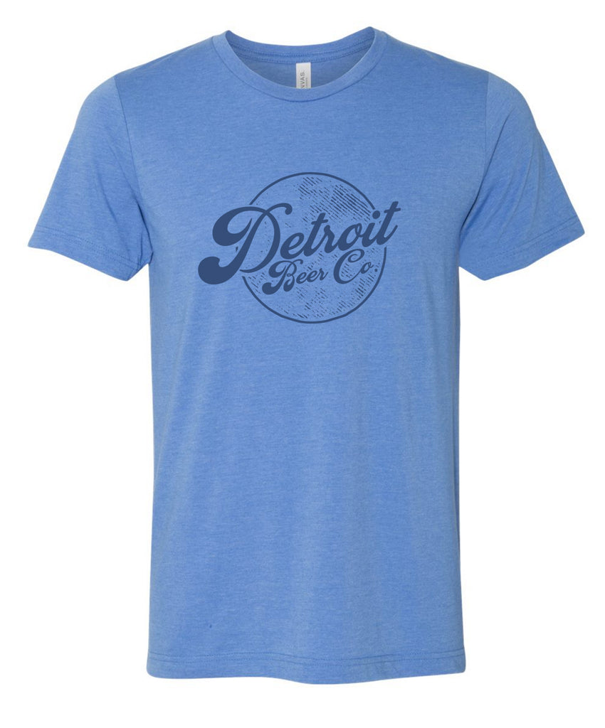 Detroit Beer Co. - Grunge Circle Tee (Blue)