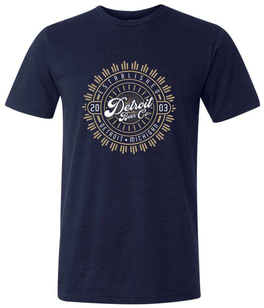 Detroit Beer Co. - Monogram Tee (Navy)